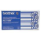 Ruban encreur Brother PC74RF Noir 4 x 144 4 Unités
