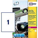 Étiquettes multifonctions Avery L4775 20 A4 Blanc 210 x 297 mm 20 Feuilles de 1 Étiquette