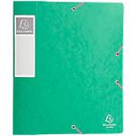 Boites de classement à élastique Exacompta Carte lustrée véritable 24 x 6 x 32 cm Vert 10 Unités