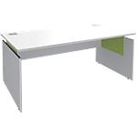 Bureau ajustable Adjust 1600 x 800 x 820 mm Blanc, vert