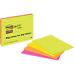 Notes adhésives Post it 203 x 152 mm Assortiment   4 Unités de 45 Feuilles