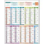 Calendrier bancaire vertical Carte France 2020 55 x 43 cm