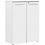 Armoire H. 109 cm 2 portes Gautier Office Top Line 800 x 420 x 1 090 mm Blanc