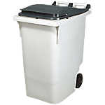 Conteneur à déchets Rossignol Korok 340 l HDPE, polypropylene Gris 109,5 (H)  x  62,5 (l)  x  85 (P) cm