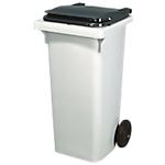 Conteneur à déchets Rossignol Korok 240 l HDPE, polypropylene Gris 108 (H)  x  58,5 (l)  x  73 (P) cm