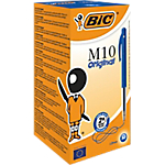 Stylo bille rétractable BIC M10 0.4 mm Bleu   50 Unités