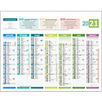 Calendrier bancaire 4 saisons 2020 21 x 26,5 cm