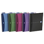 OXFORD Cahier double spirale Office A4 5 x 5 Assortiment   90 Feuilles