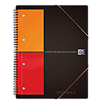 Cahier Meeting book OXFORD International A4+ Quadrillé Noir   80 Feuilles