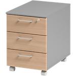 Caisson mobile 3 tiroirs 3 Gautier Office 420 x 580 x 590 mm Imitation hêtre