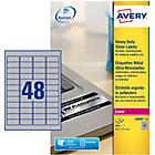 Étiquettes multifonctions Avery L6009 20 A4 Métallisé 45,7 x 21,1 mm 20 Feuilles de 48 Étiquettes