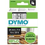 Ruban d'étiquettes DYMO D1 53713 24 mm x 7 m Noir, blanc