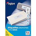 Étiquettes multi usage APLI Agipa A4 Blanc 37 x 105 mm 100 Feuilles de 16 Étiquettes