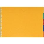 Intercalaires Niceday A3 6 couleurs 5 intercalaires Perforé Carte lustrée 5