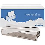 Essuie mains Niceday 1 épaisseur Pliage en C Gris   20 Unités de 182 Feuilles