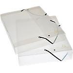 Boites de classement à élastiques Exacompta 5962E 25 x 2,5 x 33 cm Transparent