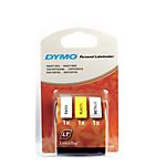 Ruban d'étiquettes DYMO Letratag 12 mm x 4 m Noir, jaune