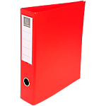 Classeur à anneaux Exacompta 4 anneaux Carton recouvert PP A4 Rouge
