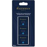 Cartouches courtes pour stylo plume Waterman Bleu
