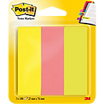 Marque Pages Post it papier 2,5 x 7,6 cm Assortiment   3 Unités de 100 Bandes