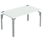 Bureau droit 4You 1 400 x 800 x 720 mm Blanc, aluminium