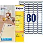 Étiquettes enlevables Avery L4732Rev 25 A4 Blanc 35,6 x 16,9 mm 30 Feuilles de 80 Étiquettes