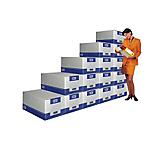 Container pour boites archives FAST Géant 29 (H) x 38,5 (l) x 53,5 (P) cm Carton Blanc   5 Unités
