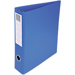 Classeur à anneaux Exacompta 4 anneaux 50 mm Carton recouvert PP A4 Bleu