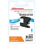 Cartouche jet d'encre Office Depot Compatible Brother LC123C Cyan