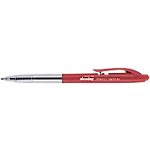 Stylo bille rétractable Niceday RBM1.0 0.5 mm Rouge   10 Unités