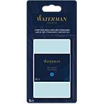 Cartouches longues pour stylo plume Waterman Bleu   8 Unités
