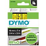 Ruban d'étiquettes DYMO D1 45808 19 mm x 7 m Noir, jaune