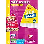 Copies doubles perforées grands carreaux Clairefontaine A4 14791C 500 Pages 250 Feuilles