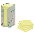 Notes adhésives Post it 76 x 76 mm Jaune   16 Unités de 100 Feuilles