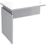Extension de bureau Adjust 800 x 600 x 820 mm Blanc, gris aluminium