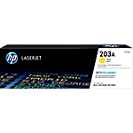 Toner HP D'origine 203A Jaune CF542A