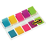 Index   marques pages Post it Classique 43,2 (H) x 11,9 (l) mm Assortiment   5 Unités de 20 Bandes