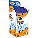 Stylo bille avec capuchon BIC Cristal Soft 0.4 mm Bleu   50 Unités