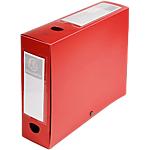 Boites de classement à pression Exacompta Opaque A4 80 mm Rouge