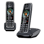 Téléphone sans fil dectgap gigaset c530 duo noir