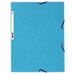 Chemise 3 rabats à élastique Exacompta Carte lustrée véritable A4 Turquoise