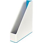 Porte revues Leitz WOW Blanc, Bleu métallisé 7,3 x 27,2 x 31,8 cm