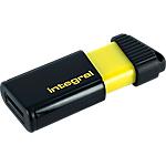 Clé USB Integral Pulse 64 Go Noir, Jaune