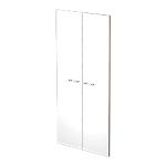 Portes pour bibliothèque Zen 72 x 145 cm Blanc 2 Unités