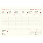 Recharge pour semainier Oberthur Up to date 2021 1 Semaine par page 21 x 14,5 cm Ivoire