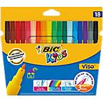 Feutre de coloriage BIC Kids Visa 2 mm Assortiment   18 Unités