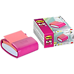 Dévidoir Post it Z Notes Super Sticky 76 (H)  x  76 (l) mm Fuschia   90 Feuilles
