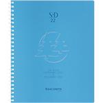 Semainier Exacompta Linicolor 1 Semaine sur 2 pages 2020, 2021 Bleu