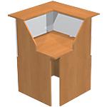 Comptoir à angle 90° Musa 76 (L) x 76 (P) x 117 (H) cm Imitation aulne