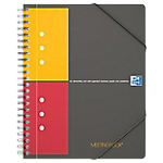 Cahier petits carreaux reliure intégrale OXFORD International A5+ 4 Perforations 160 Pages   80 Feuilles